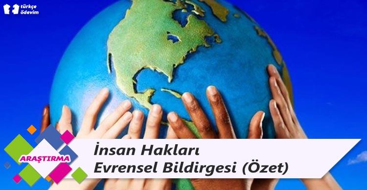 İnsan Hakları Evrensel Bildirgesi (Özet)