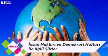 İnsan Hakları ve Demokrasi Haftası ile İlgili Şiirler