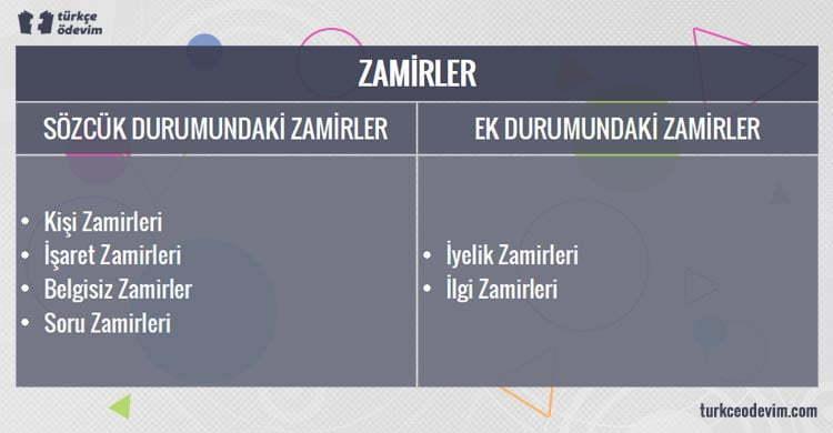 Zamir Türleri