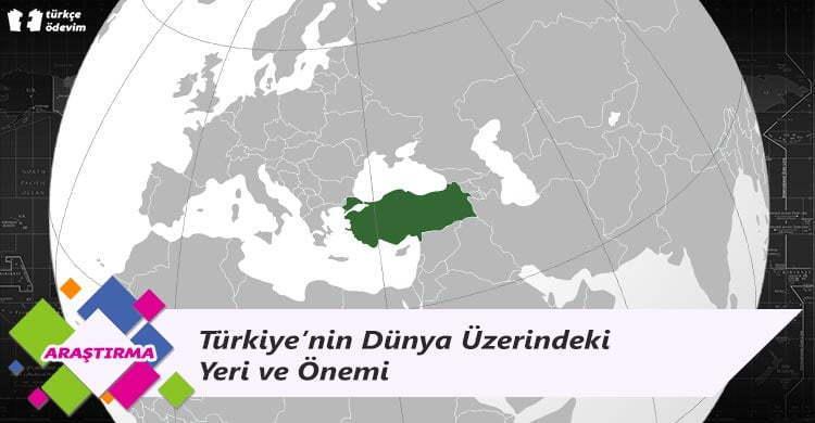 Türkiye'nin Dünya Üzerindeki Yeri ve Önemi