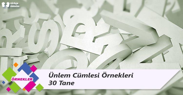 Ünlem Cümlesi Örnekleri - 30 Tane