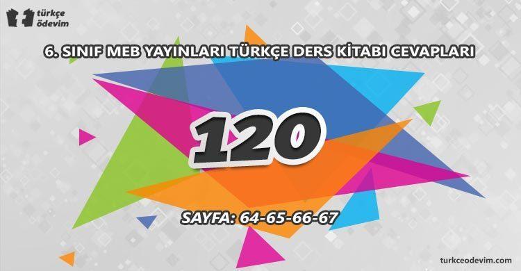 120 İzleme Metni Cevapları - 6. Sınıf Türkçe MEB Yayınları