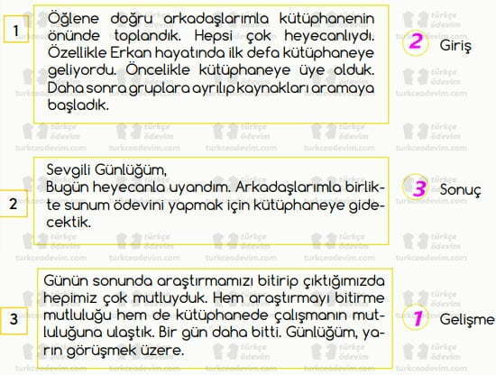 Asım'ın Nesli Kitap Dostudur Metni Cevapları - Eşleştirme