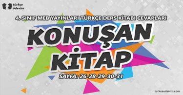 Konuşan Kitap Metni Cevapları - 4. Sınıf Türkçe MEB Yayınları