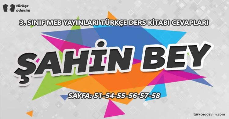 Şahin Bey Metni Cevapları - 3. Sınıf MEB Yayınları