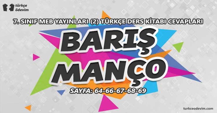 Barış Manço Metni Cevapları - 7. Sınıf Türkçe MEB Yayınları (2)