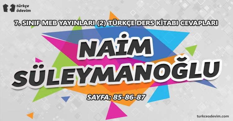 Naim Süleymanoğlu İzleme Metni Cevapları - 7. Sınıf Türkçe MEB Yayınları 2