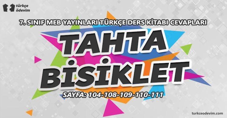 Tahta Bisiklet Metni Cevapları - 7. Sınıf Türkçe MEB Yayınları (1)