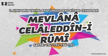 Mevlana Celaleddin-i Rumi İzleme Metni Cevapları - 7. Sınıf Türkçe MEB Yayınları