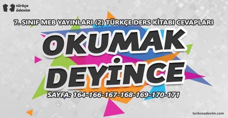 Okumak Deyince Metni Cevapları - 7. Sınıf Türkçe MEB Yayınları (2)