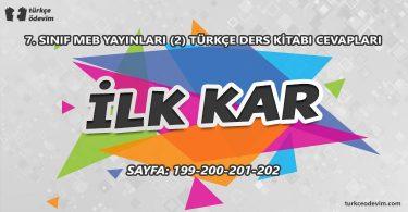 İlk Kar Metni Cevapları - 7. Sınıf Türkçe MEB Yayınları (2)