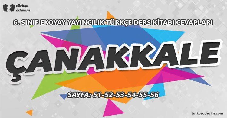 Çanakkale Metni Cevapları - 6. Sınıf Türkçe Ekoyay Yayınları