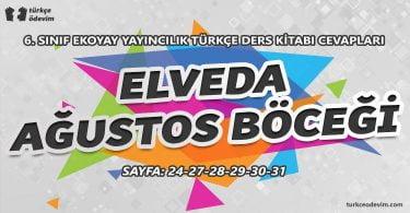 Elveda Ağustos Böceği Metni Cevapları - 6. Sınıf Ekoyay Yayınları