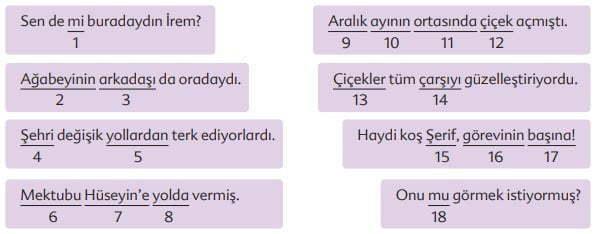 Kuşların Çektiği Kağnı Metni Cevapları - 6. Sınıf Türkçe Ekoyay Yayınları - Numaralı Ekler
