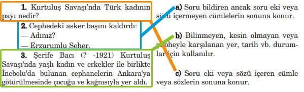 Mustafa Kemal'in Kağnısı Metni Cevapları - 5. Sınıf Türkçe Anıttepe Yayınları - Eşleştirme