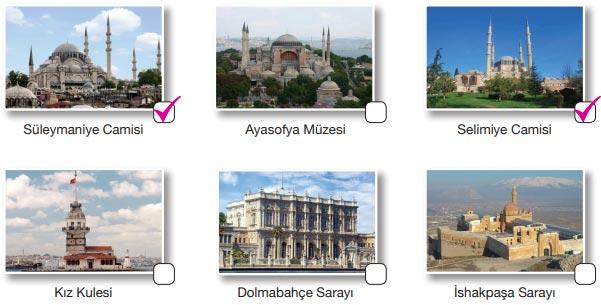 Büyük Mimar Koca Sinan Metni Cevapları - Eserler