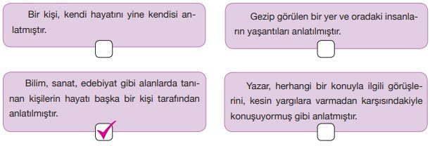 Büyük Mimar Koca Sinan Metni Cevapları - Metnin Türü