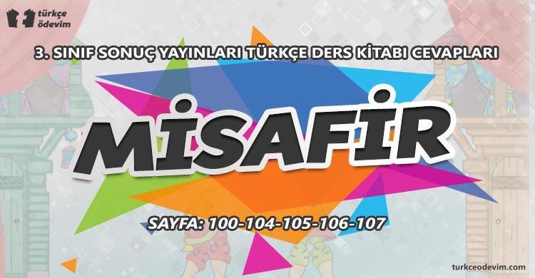 Misafir Metni Cevapları - 3. Sınıf Türkçe Sonuç Yayınları