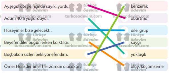 Oyun Metni Cevapları - 6. Sınıf Türkçe Ekoyay Yayınları - Eşleştirme