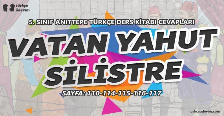 Vatan Yahut Silistre Metni Cevapları - 5. Sınıf Türkçe Anıttepe Yayınları