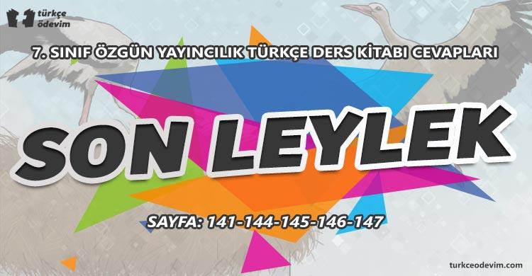 Son Leylek Metni Cevapları - 7. Sınıf Türkçe Özgün Yayınları