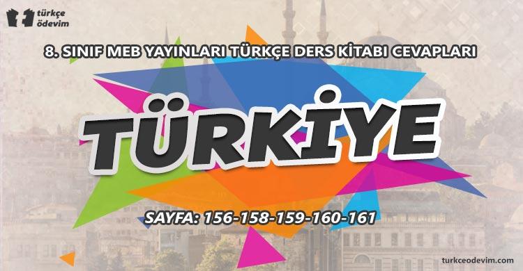 Türkiye Metni Cevapları - 8. Sınıf Türkçe MEB Yayınları