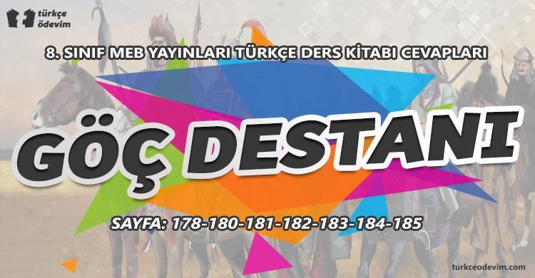 Göç Destanı Metni Cevapları - 8. Sınıf Türkçe MEB Yayınları