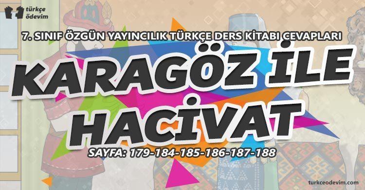 Karagöz ile Hacivat Metni Cevapları - 7. Sınıf Türkçe Özgün Yayınları