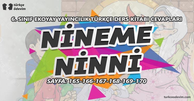 Nineme Ninni Metni Cevapları - 6. Sınıf Türkçe Ekoyay Yayınları