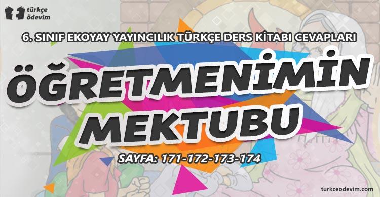 Öğretmenimin Mektubu Dinleme Metni Cevapları - 6. Sınıf Türkçe Ekoyay Yayınları