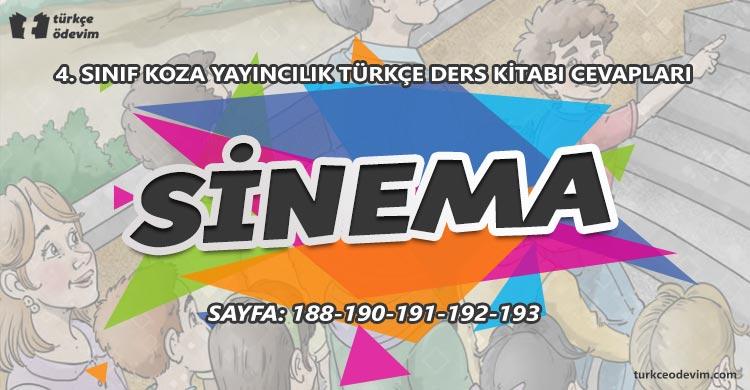 Sinema Metni Cevapları - 4. Sınıf Türkçe Koza Yayınları