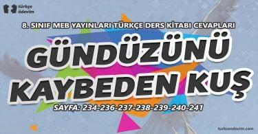 Gündüzünü Kaybeden Kuş Metni Cevapları - 8. Sınıf Türkçe MEB Yayınları