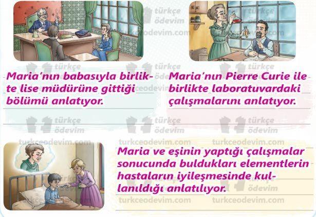 Öğrenme ve Marie Curie (Meri Küri) Metni Cevapları - Görseller