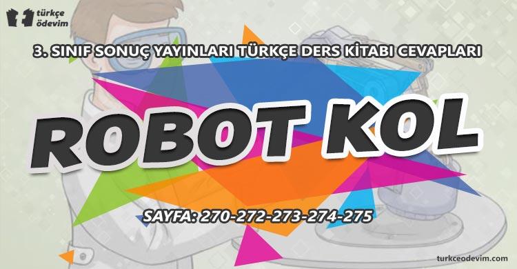 Robot Kol Metni Cevapları - 3. Sınıf Türkçe Sonuç Yayınları