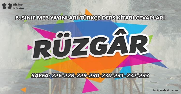 Rüzgâr Metni Cevapları - 8. sınıf Türkçe MEB Yayınları