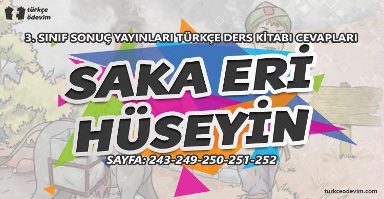 Saka Eri Hüseyin Metni Cevapları - 3. Sınıf Türkçe Sonuç Yayınları