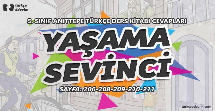Yaşama Sevinci Metni Cevapları - 5. Sınıf Türkçe Anıttepe Yayınları