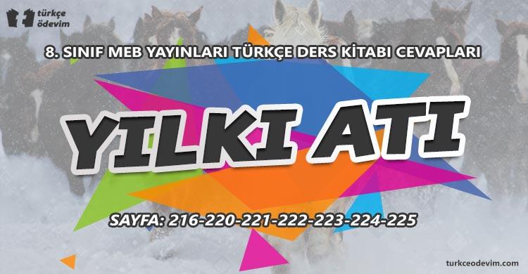 Yılkı Atı Metni Cevapları - 8. Sınıf Türkçe MEB Yayınları