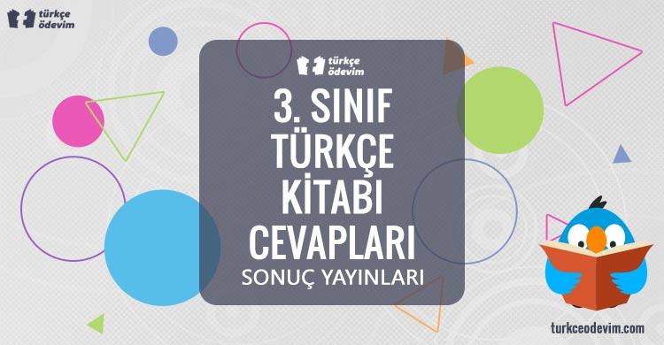 3. Sınıf Türkçe Ders Kitabı Cevapları Sonuç Yayınları