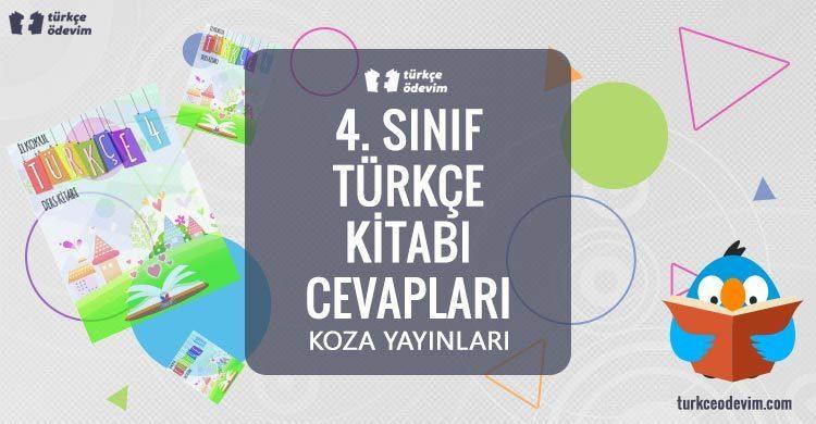 4. Sınıf Türkçe Kitabı Cevapları Koza Yayınları