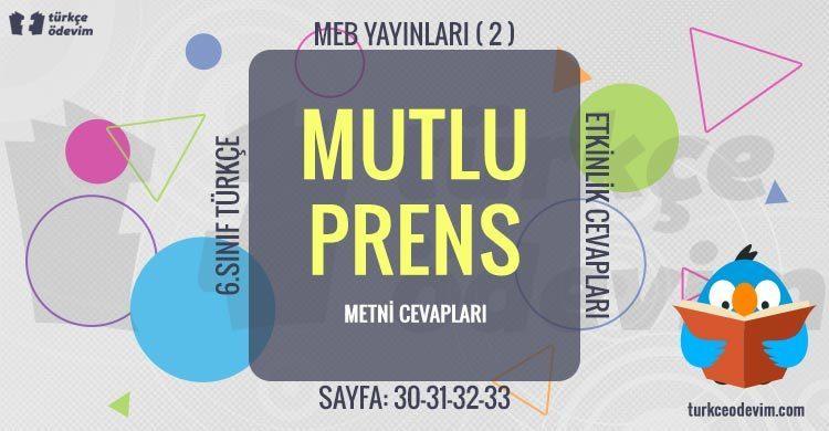 Mutlu Prens Dinleme Metni Cevapları - 6. Sınıf Türkçe MEB Yayınları (2)