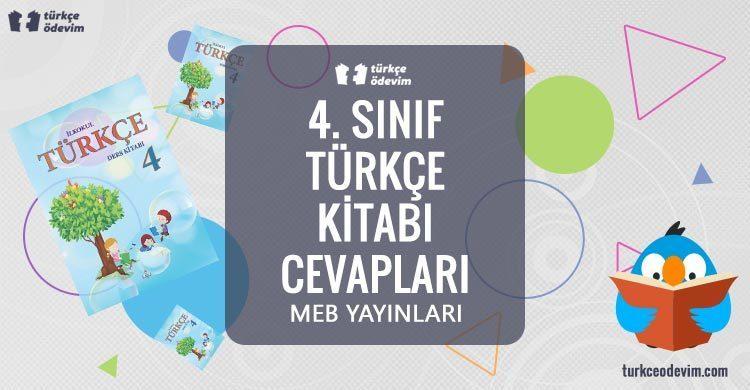 4. Sınıf Türkçe Ders Kitabı Cevapları MEB Yayınları