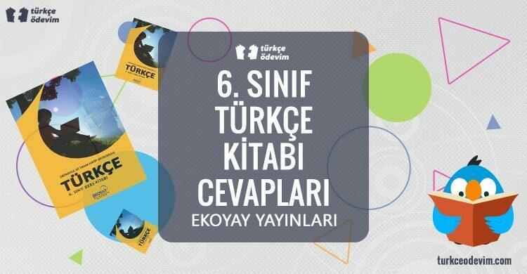 6. Sınıf Türkçe Kitabı Cevapları Ekoyay Yayınları