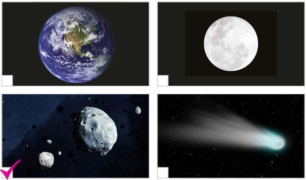 Dünya ve Kuyrukluyıldız Dinleme Metni Cevapları - Gök Cisimleri