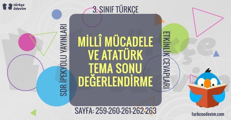 Millî Mücadele ve Atatürk Tema Sonu Değerlendirme (3. Sınıf SDR İpekyolu)