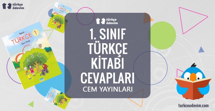 1. Sınıf Türkçe Çalışma Kitabı Cem Yayınları