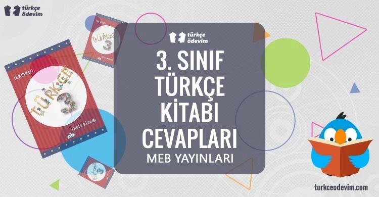 3. Sınıf Türkçe Ders Kitabı Cevapları Meb Yayınları