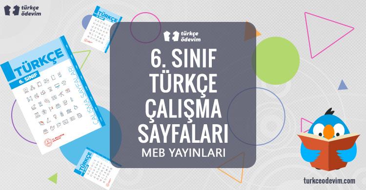 6. Sınıf Türkçe Çalışma Sayfaları Kitabı Cevapları