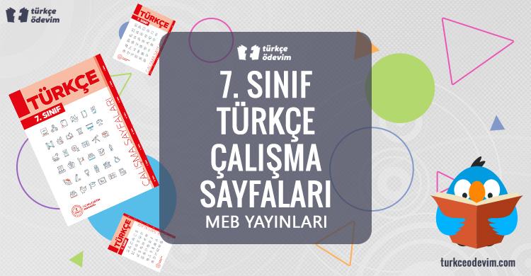 7. Sınıf Türkçe Çalışma Sayfaları Kitabı Cevapları